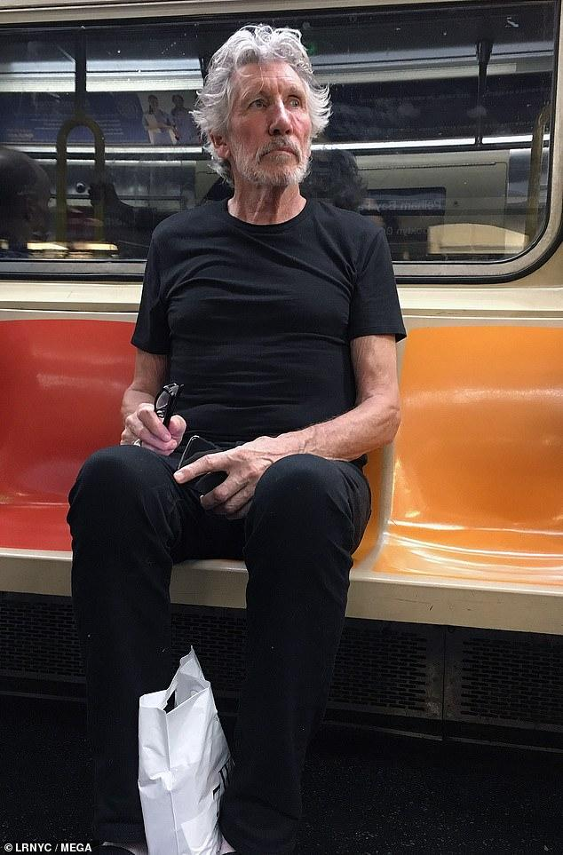 Tales of Rock: Pink Floyd's Roger Waters, 75, goes unnoticed as he takes the subway in New York.